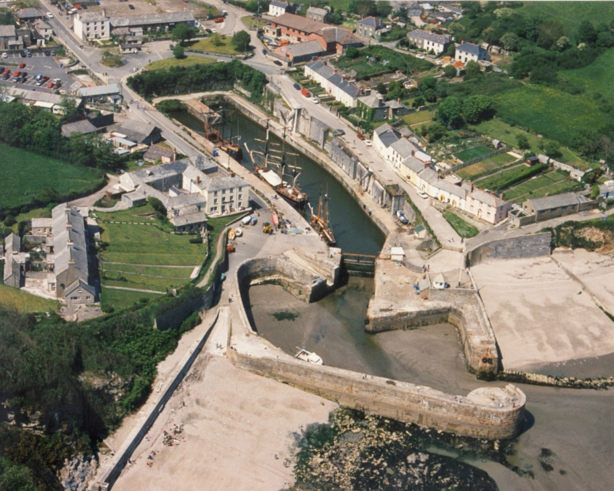 Aerial view of Charlestown Harbour