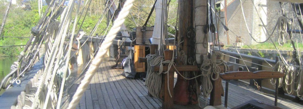 Tall ship decks
